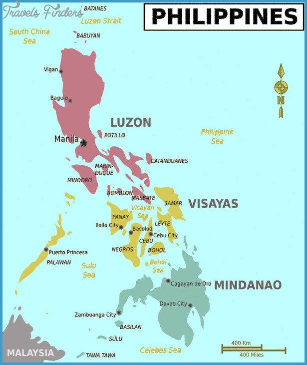 Philippines Map  httptravelsfinderscomphilippinesmaphtml