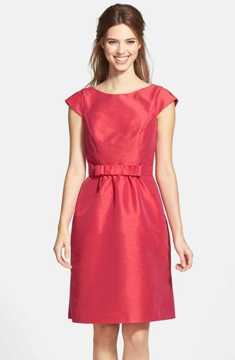 5c7bf7b4efe Alfred Sung Woven Fit   Flare Dress
