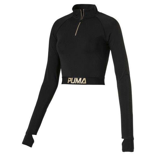 a6799d1795a Image 1 of Camiseta corta de manga larga corta de mujer en Puma Black