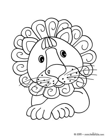 Kawaii Coloring Page Cute Lion Other Animals At This Site Too
