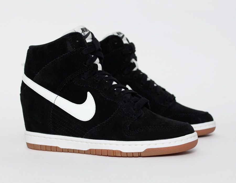 hot sale online 9bfbc efdb3  Nike Dunk Sky Hi Black...these would be cute without that damn hidden  wedge. Just mid or high tops