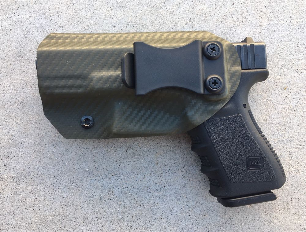 Glock 19/23/32 OWB Kydex Carbon Fiber Holster RH | eBay