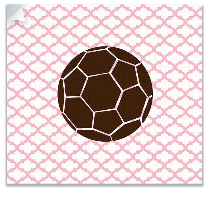Kids Soccer Ball Canvas Wall Peel