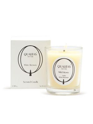 Wild Honey Beeswax Candle by Qualitas Candles on Gilt Home