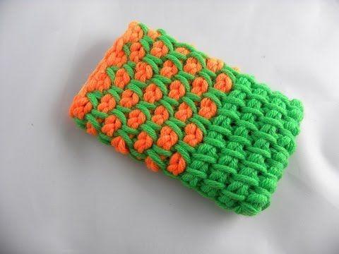 tunesisches h keln tasche f r iphone aus hatnut xl youtube tunisian crochet pinterest. Black Bedroom Furniture Sets. Home Design Ideas