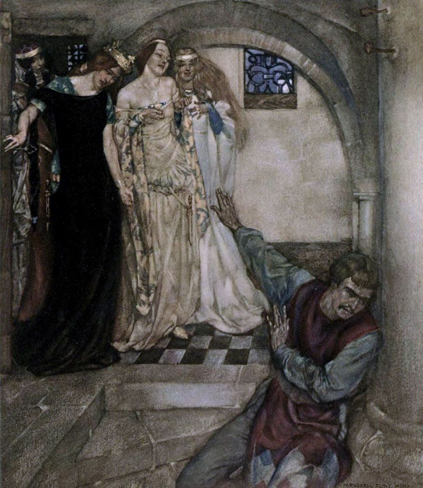 le morte dartur canterbury tales sir Recounting the life of king arthur, the knightly exploits of sir lancelot du lake, sir tristram, sir gawain, and the quest for the holy grail, le morte darthur depicts the contradictions that underscore the fellowship's chivalric ideals.