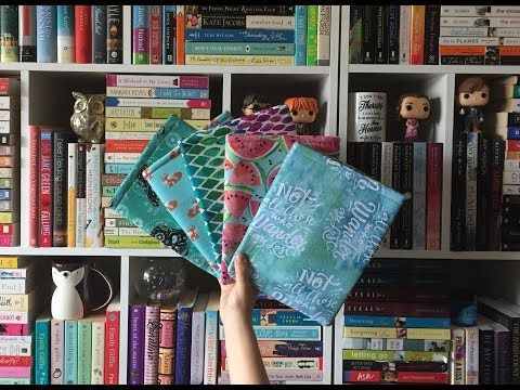 ea18331ebbd How to sew a Padded Fabric Notebook Cover - YouTube | Book covers ...