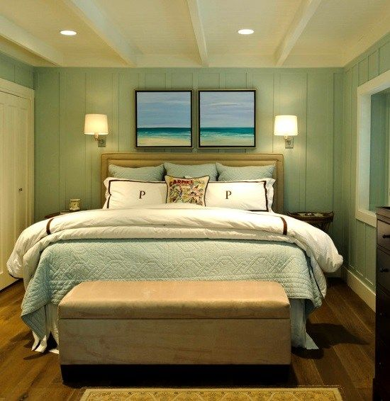Awesome Above the Bed Beach Themed Decor Ideas | Beach paintings ...