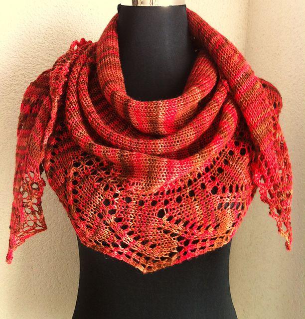 Free Pattern: From Dawn Till Dusk shawlette / scarf by Tetiana ...