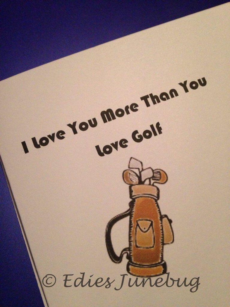 Golf Lovers Card Golf Widow Card For Husband Golf Clubs Golf