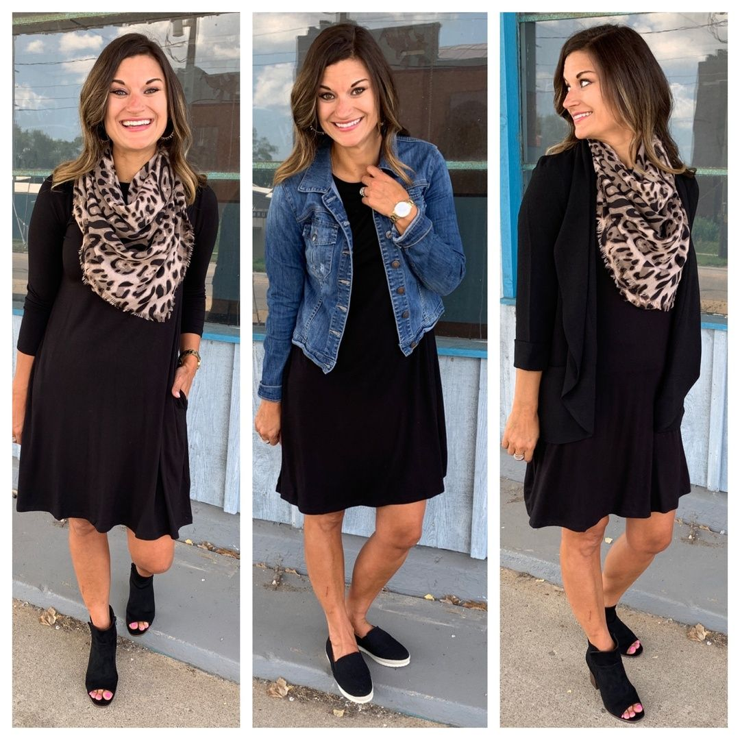 The Best Black Swing Dress For Fall And Winter Justpostedblog Shopstyle Shopthelook Myshops Fall Capsule Wardrobe Swing Dress Outfit Fall Fall Dress Outfit [ 1080 x 1080 Pixel ]