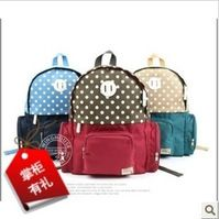 Free Shipping Dot Three-color Backpack, child Backpack, kid's ...