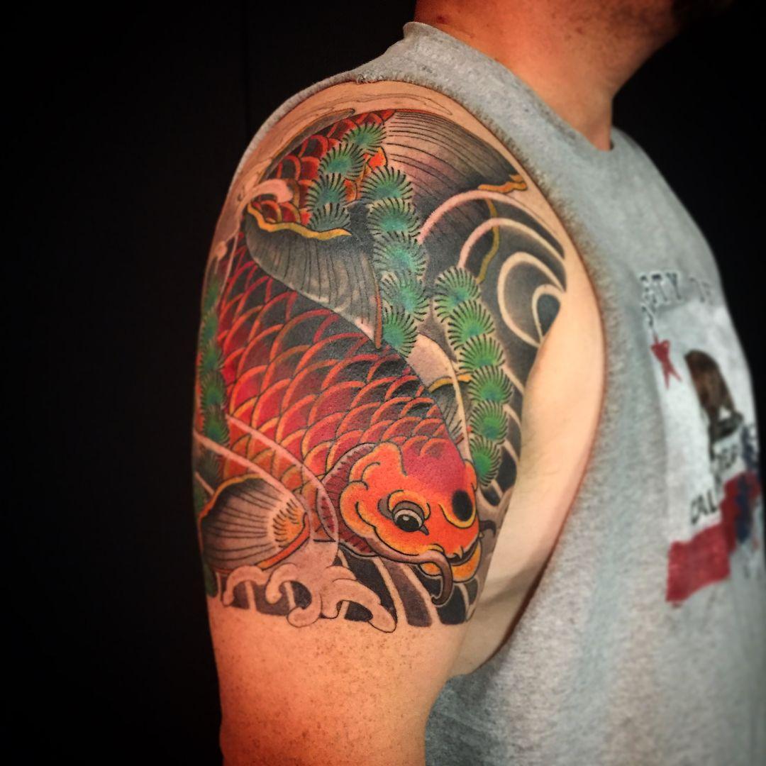Koi fish tattoo 67 carpas pinterest koi fish tattoo for Japanese koi company