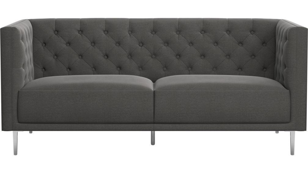 Savile Gris Tufted Apartment Sofa Apartment Sofa Sofa