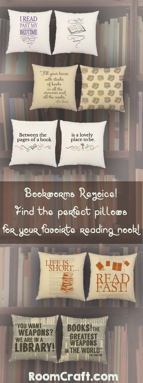 Life is short read fast throw pillows libros rincones - Libros decoracion de interiores ...