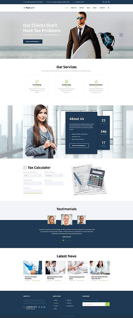 Bootstrap Website Templates Template 61343  Tax Expert Responsive Website Template