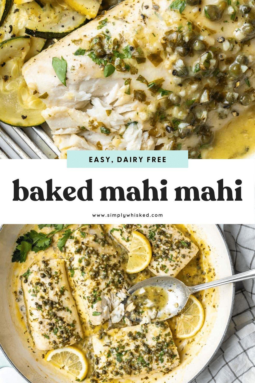 Baked Mahi Mahi With Parsley Sauce Recipe Baked Mahi Mahi Mahi Mahi Recipes Baked Mahi Mahi Recipes Healthy
