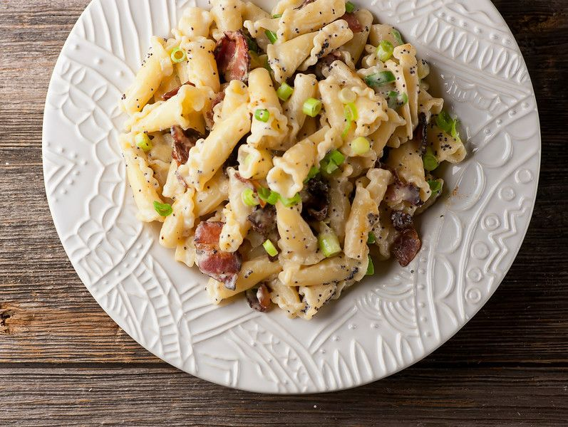Pasta With Buttered Sour Cream And Bacon Recipe Yummy Pasta Recipes Cooking Tasty Pasta