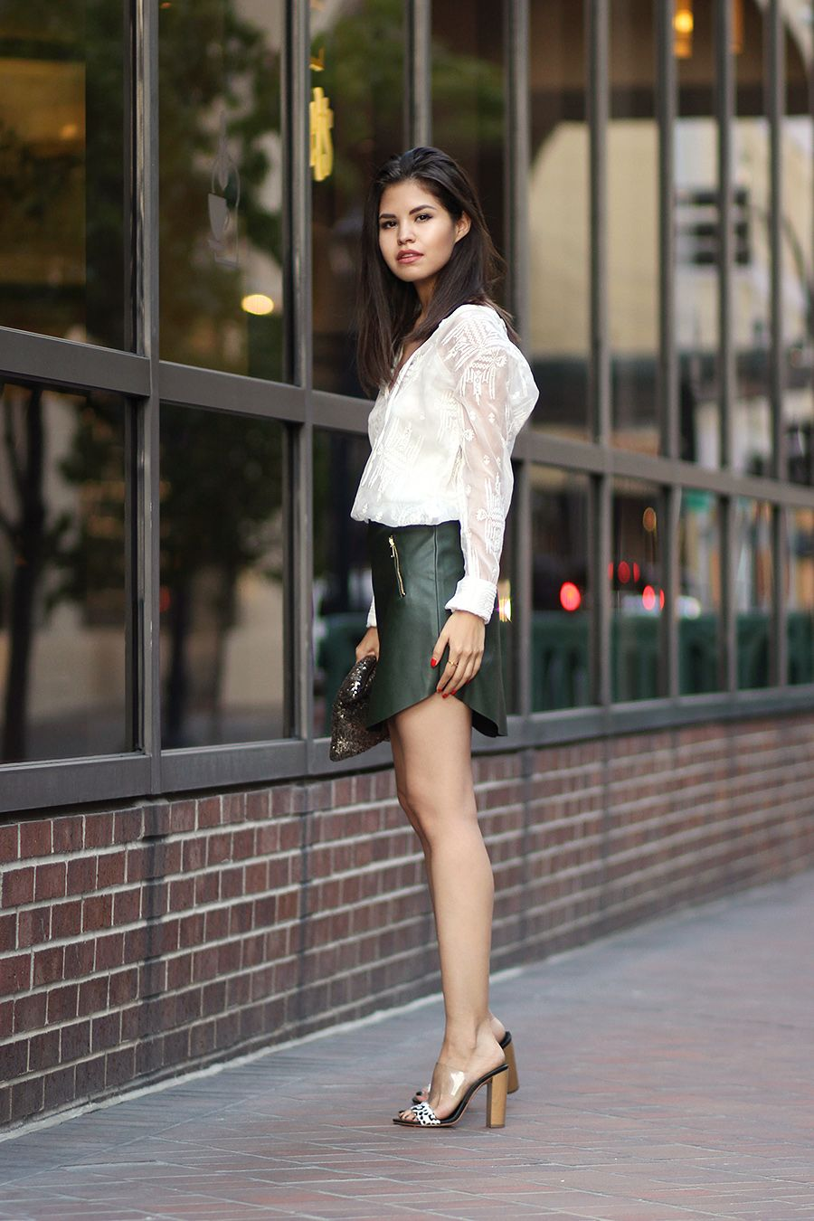 Silk & leather | Best Leather skirts ideas