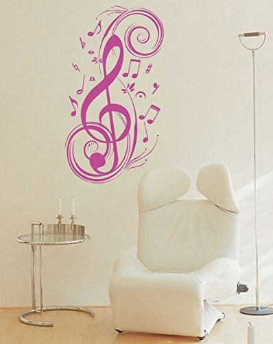 Pvc Wall Stickers Fashion Art Music Notes Piano Room Spectrum Background Music Room Living Room Bedr In 2020 Pvc Wall Wall Stickers Piano Room