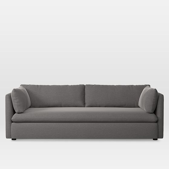 Shelter Grand Sofa Marled Microfiber Heather Gray At West Elm Sofas Loveseats Couches