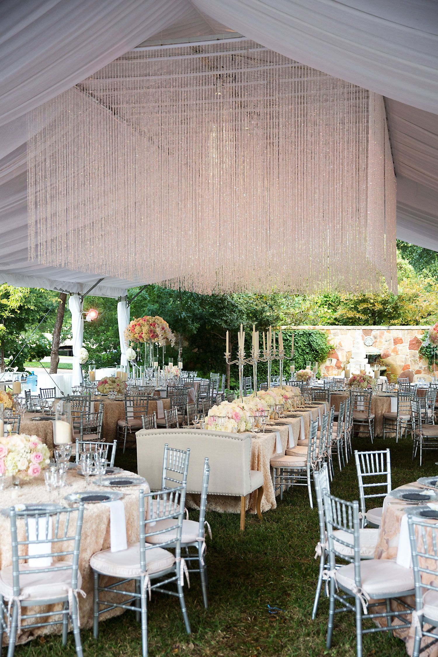 Outdoor Fall Ceremony Opulent Tented Reception In Dallas Texas