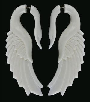Catbird.com $42 White Swan Earrings