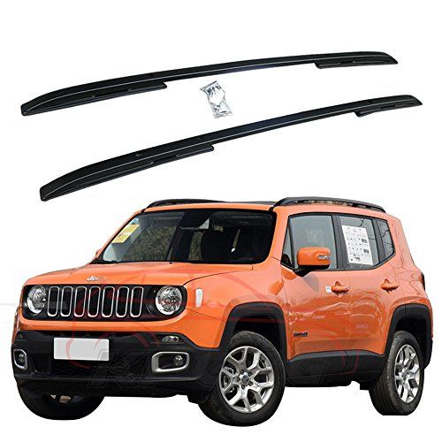Fit For Jeep Renegade 2015 2016 2017 2pcs Aluminium Roof Rail Roof Rack Side Rail Bar Black Top Grade Aluminum Excell Jeep Renegade 2015 Jeep Renegade Jeep