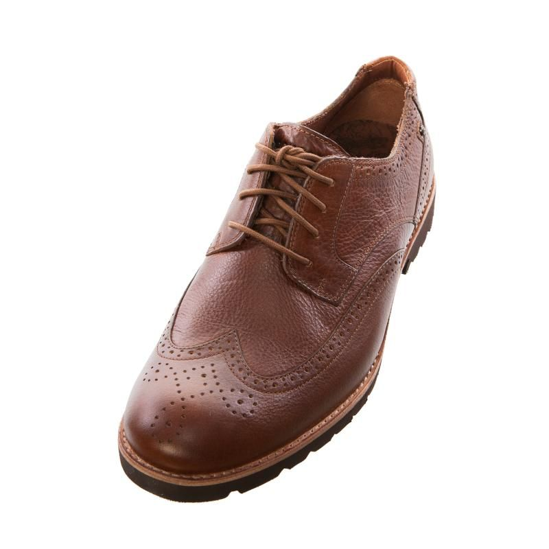 Rockport Mens Gents K72900 Ledge Hill Wingtip Light Tan Brogue Shoe -  £88.99 - Top