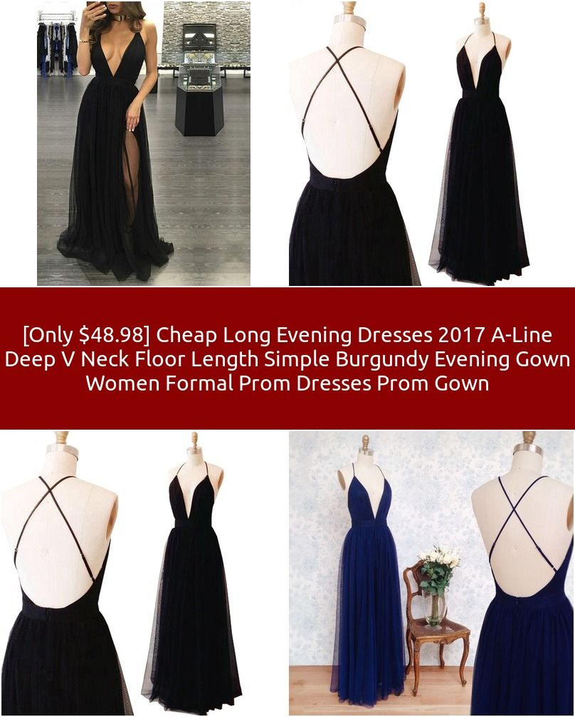Only cheap long evening dresses aline deep v neck