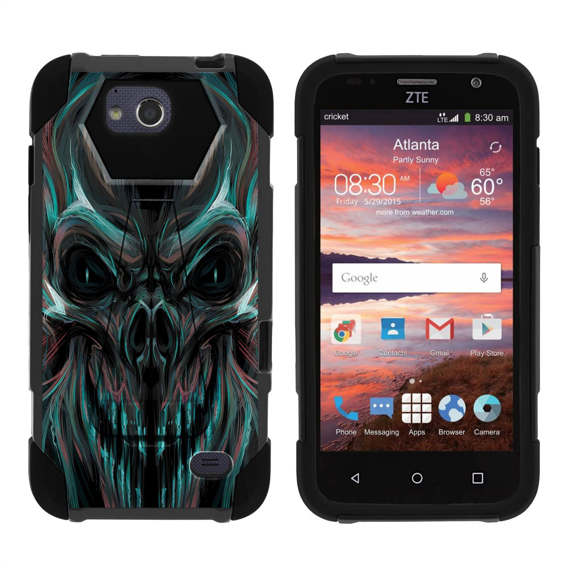 buy online ea680 e2a8c For ZTE Majesty Pro Z798BL Z799VL (2017) Case Dual Layer Stand Cover ...