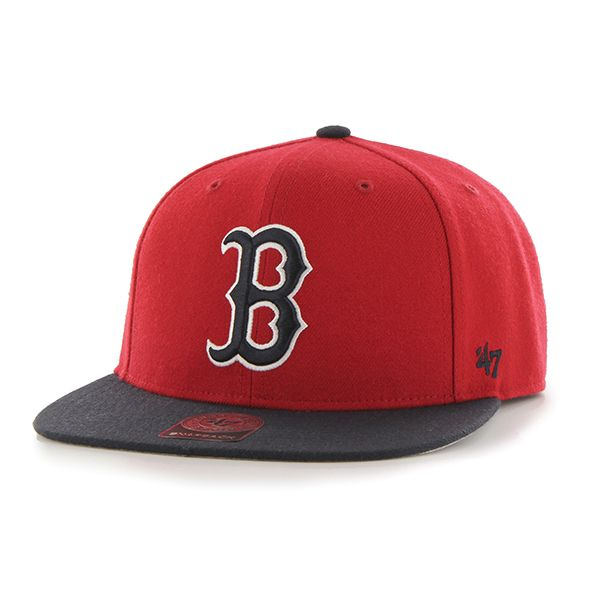ae087724b9c Boston Red Sox No Shot Two Tone Captain Red 47 Brand YOUTH Hat ...