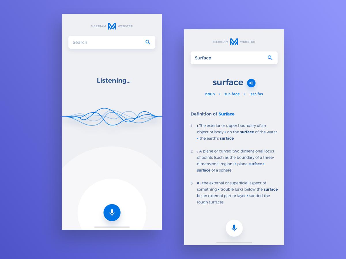 MerriamWebster App Redesign