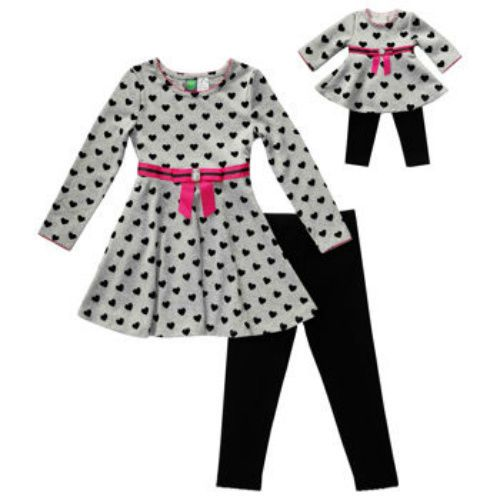 """Dollie Me Girl 4-14 and 18/"""" Doll Matching Dress Jacket Outfit American Girls"""