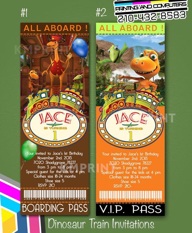 dinosaur train ticket invitations | custom invitations & more by, Birthday invitations
