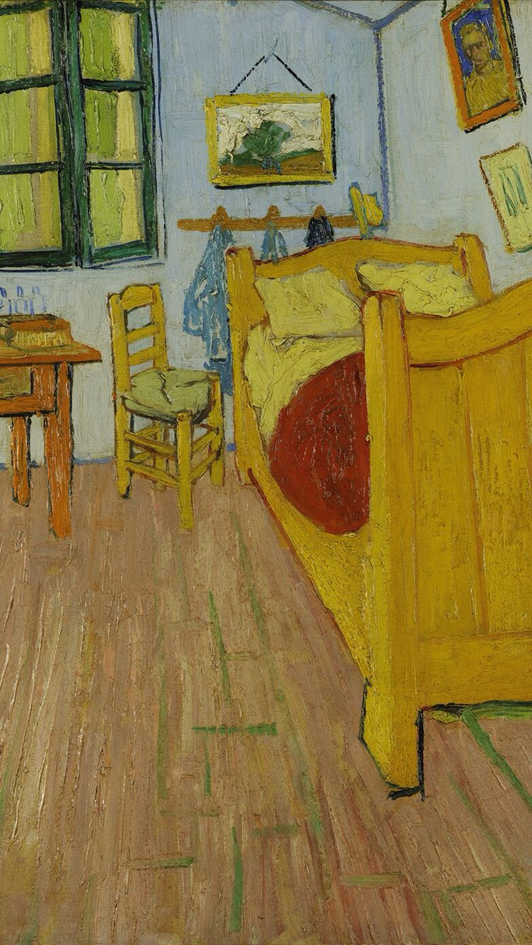 Van Gogh s painting in iPhone wallpaperVan Gogh s painting in iPhone wallpaper   It s Van Gogh  . The Bedroom Van Gogh Painting. Home Design Ideas