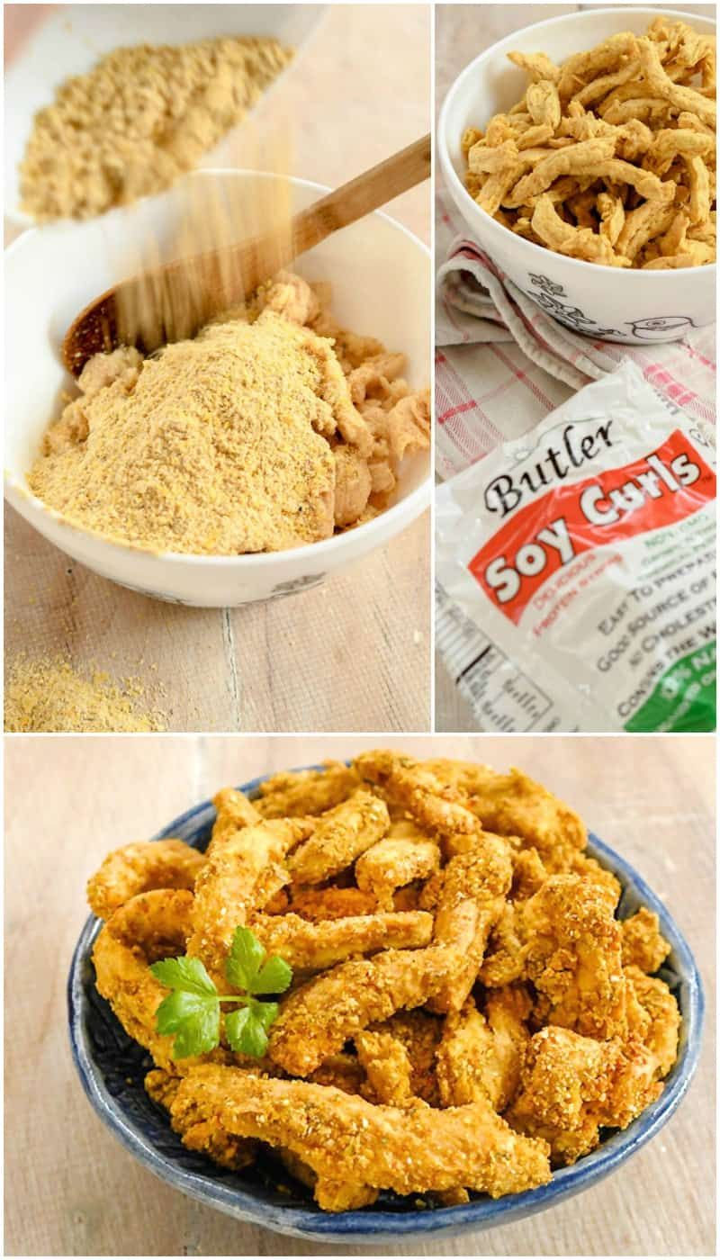 Vegan Air Fryer Southern Fried Chicken Soy Curls