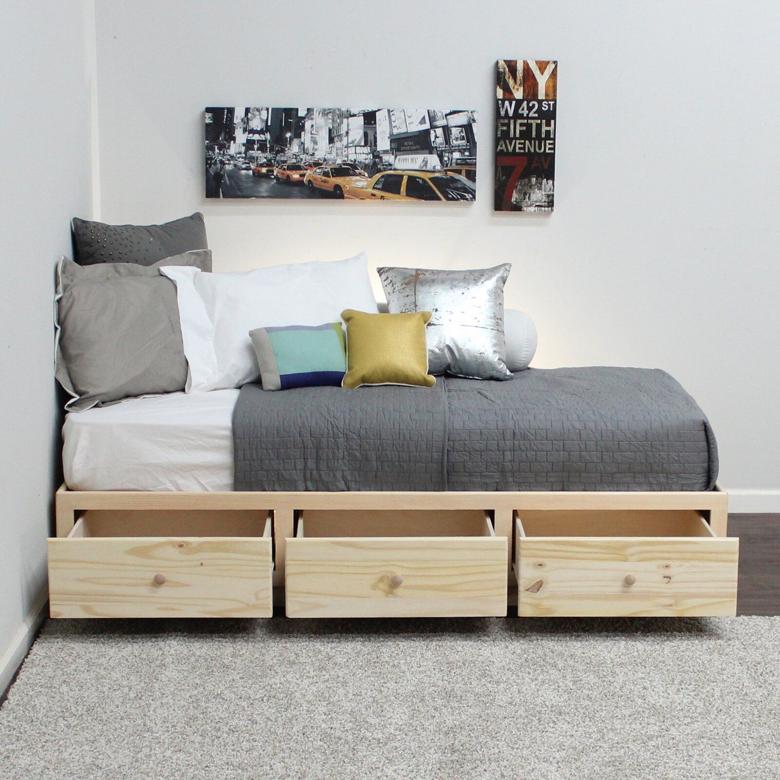 Twin Platform Bed Twin captains bed, Twin platform bed