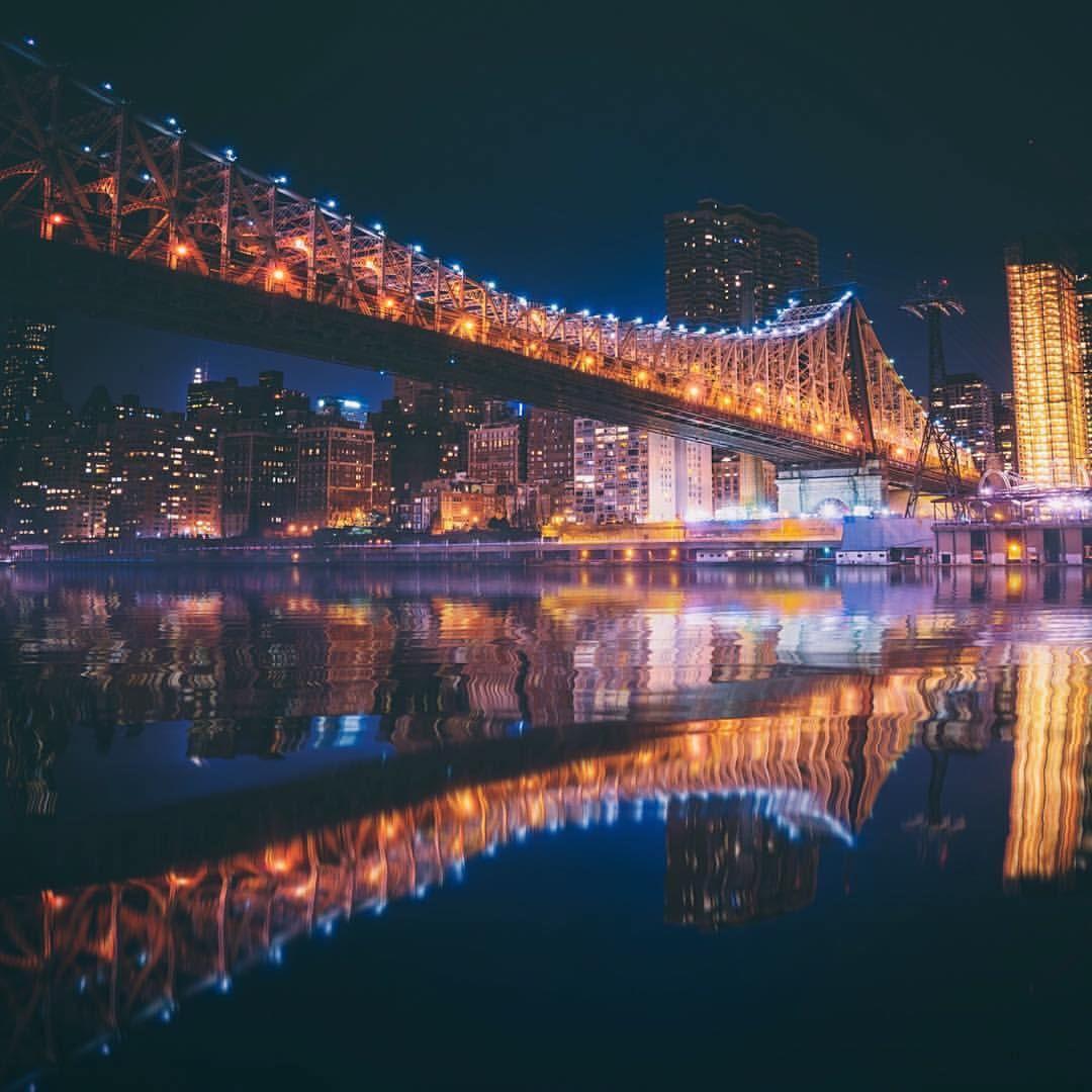 As the city dreams…New York City (at Queensborough Bridge)