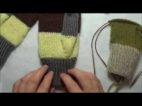 Tricoter des mitaines avec 2 aiguilles circulaires – nouvelle vidéo   Le  gars qui tricote b8c8fceac3f