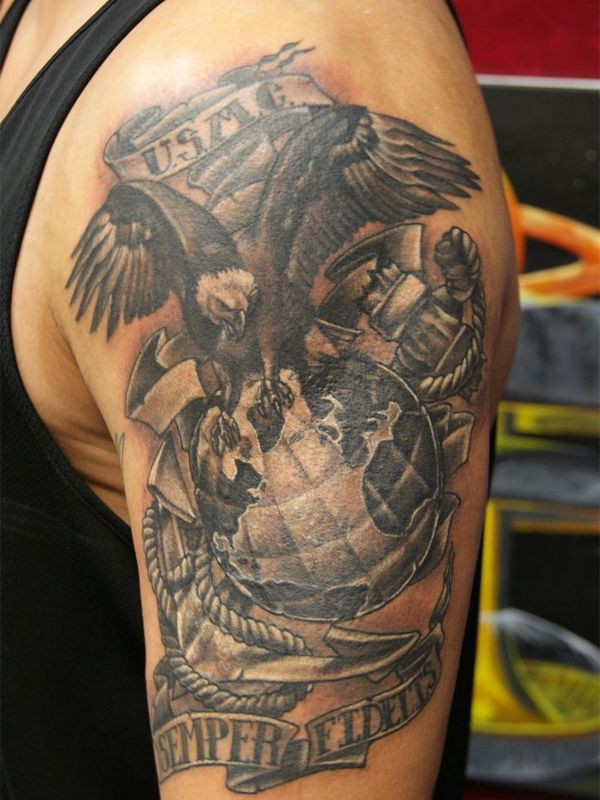 Military Tattoo … | Tattoos | Military tattoos, Marine ...