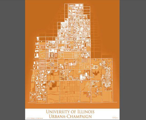 University Of Illinois Urbana Champaign Campus Map By Artalytics