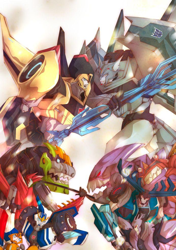 The Bee Team versus Steeljaw's Pack | Transformers Fanart