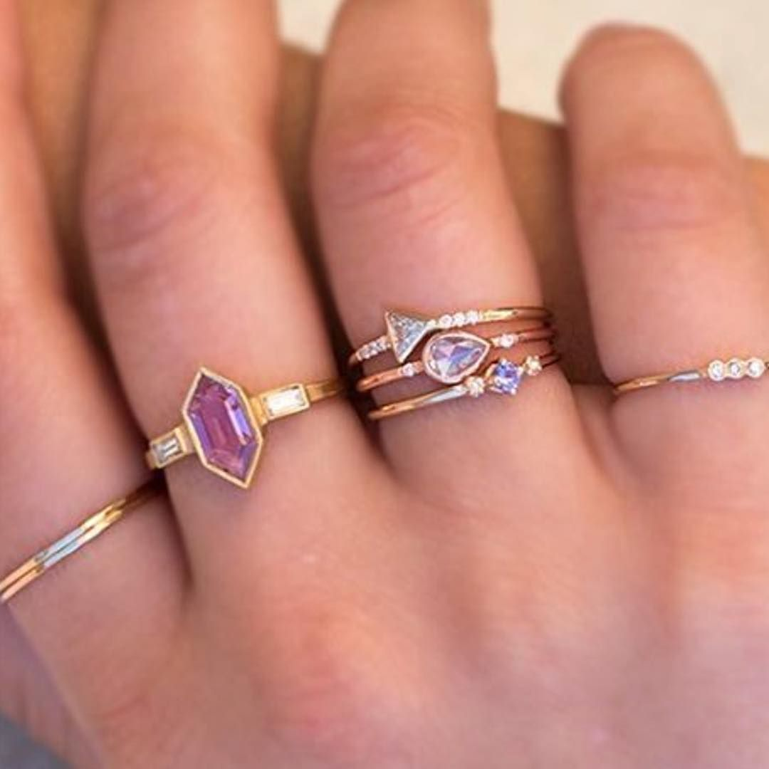 In good company How about that hex pink sapphire ring?! #repost from ...