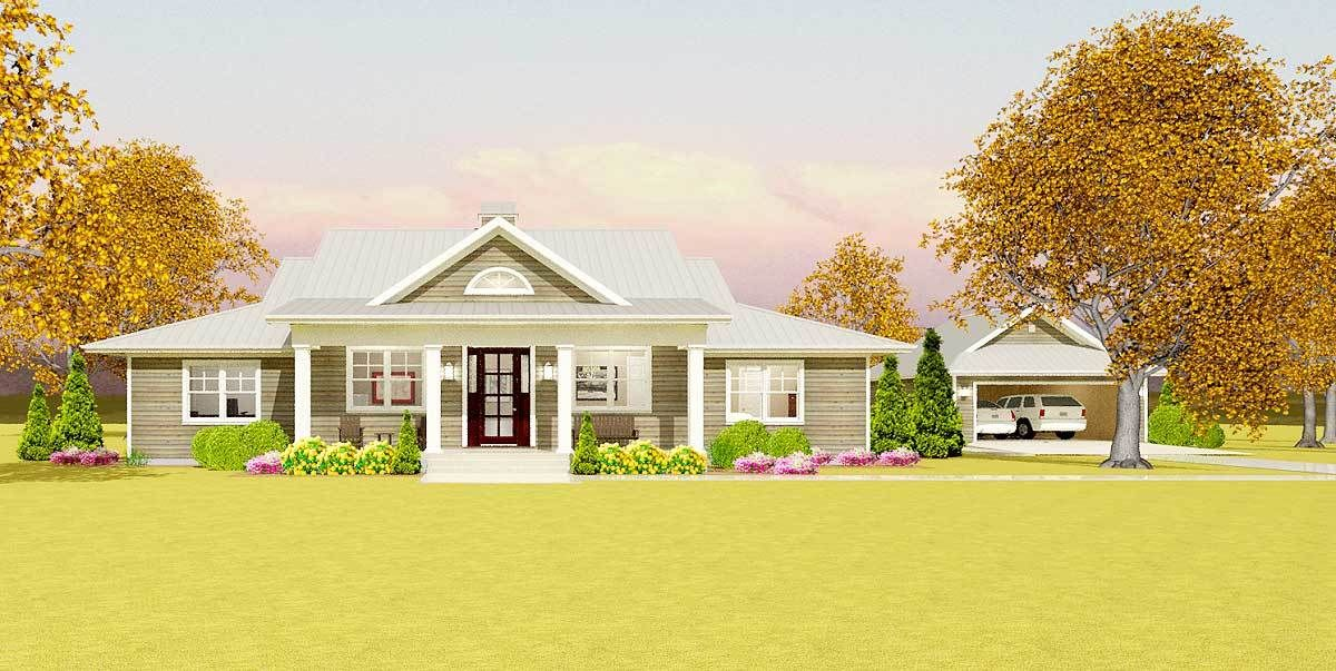 Plan 28911jj Flexible Country Plan With Detached Garage Ranch Style House Plans Country Style House Plans House Plans Farmhouse