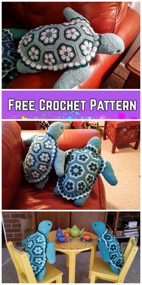 Häkeln Sie afrikanische Blume Turtle Free Crochet Patterns – Blumen Blog – crochet patterns – Honorable BLog