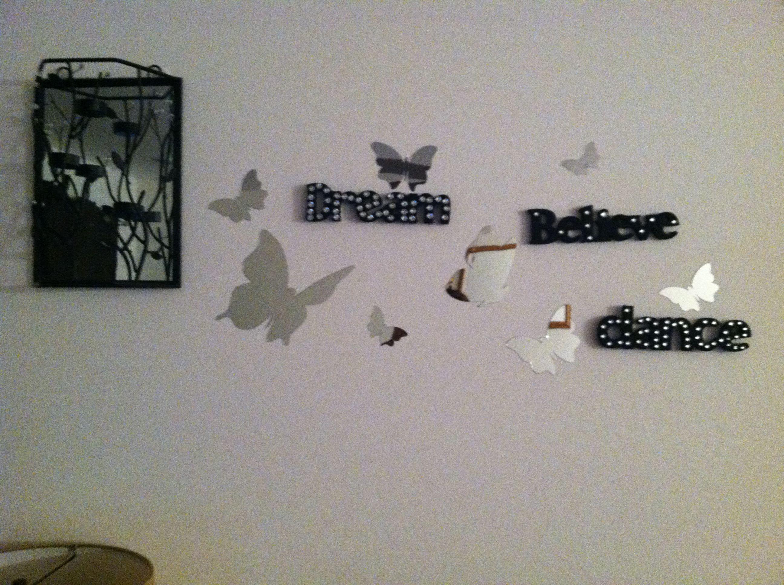 My inspiration wall. No nails needed. Inspiration wall