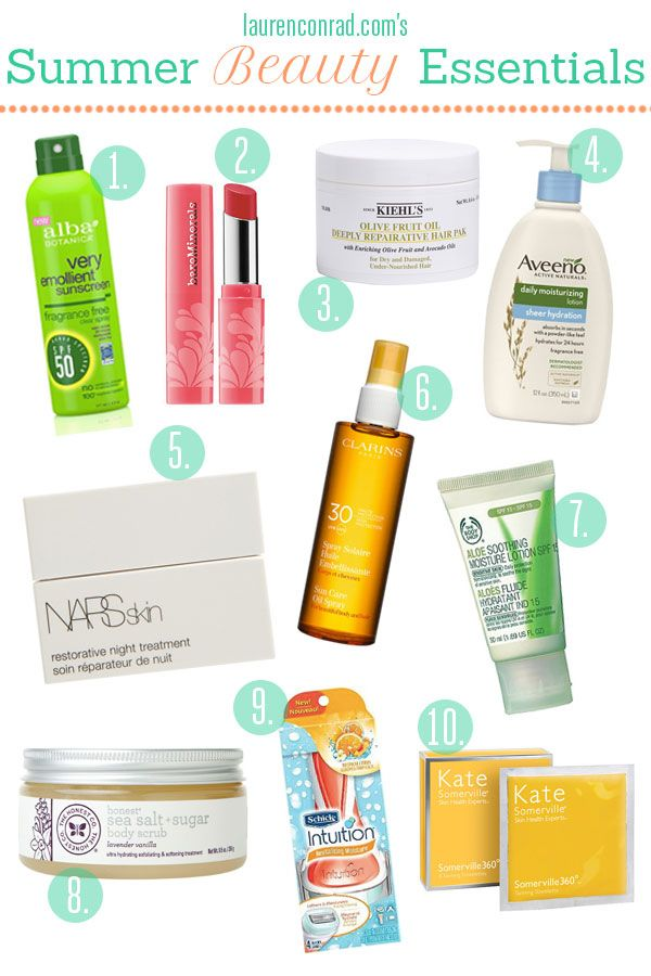 Tuesday Ten: Summer Beauty Essentials