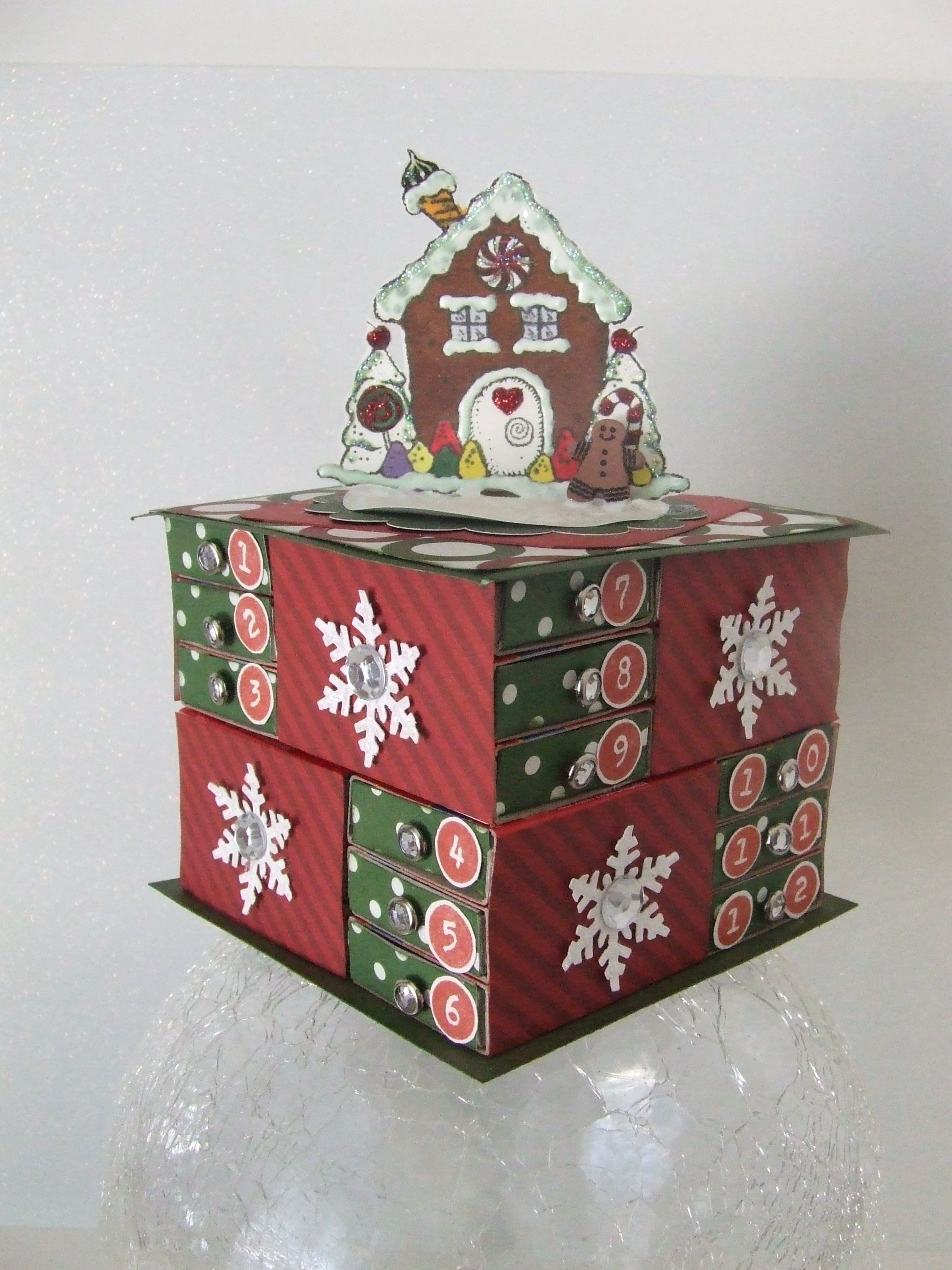 Sweet As Candy Matchbox Advent Calendar, Diy Kit, Christmas, Matchbox