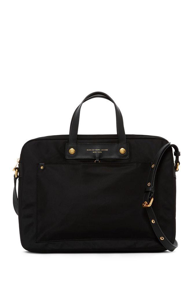 1c3a6184e00ea Marc by Marc Jacobs Jet Black 15 Inch Nylon Commuter Laptop Bag  158-  874